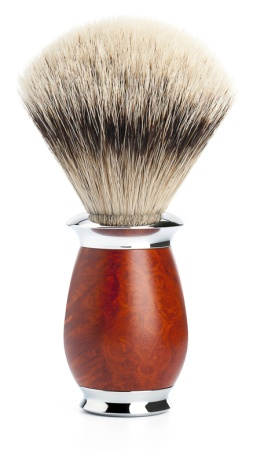 Rakborste Silvertip Badger Purist Briar Wood/Metal - L