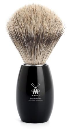 Rakborste MODERN Fine Badger Resin Black - M