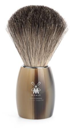 Rakborste MODERN Pure Badger Resin Horn Brown - M