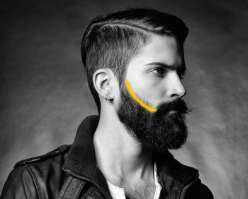 trimma skägg med hårtrimmer
